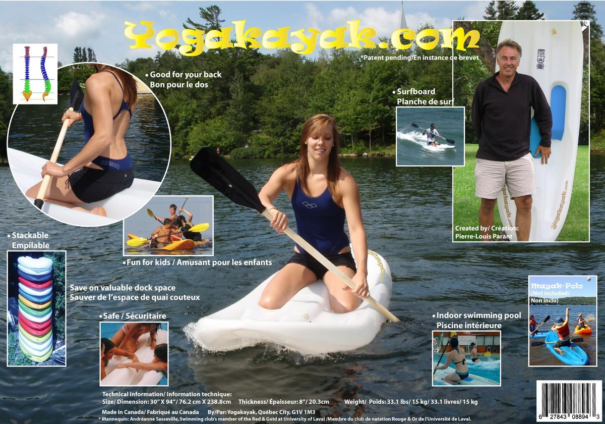 The Yogakayak allows paddlers to kayak in a reportedly more ergonomic kneeling position