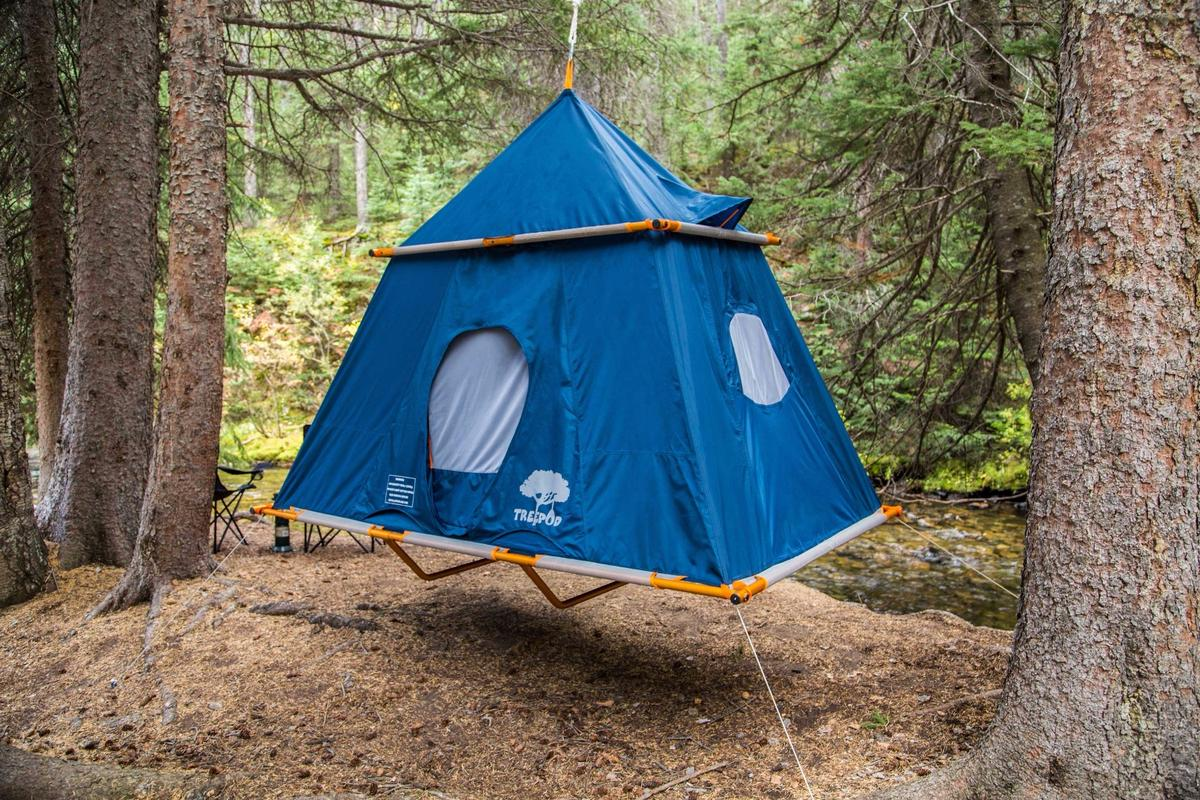 TreePod tent suspends campers like a life-sized Christmas ornament