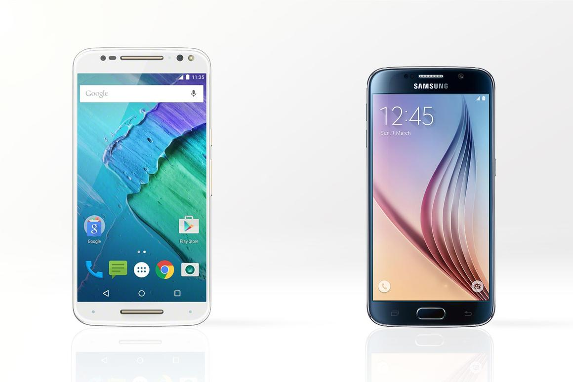 Gizmag compares the features and specs of the Moto X Style (aka Pure Edition, left) and Samsung Galaxy S6