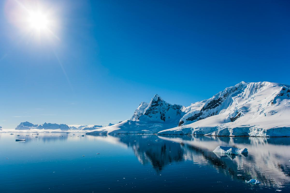 Paradise Bay on the Antarctic peninsula, which is one of the fastest warming regions on the planet