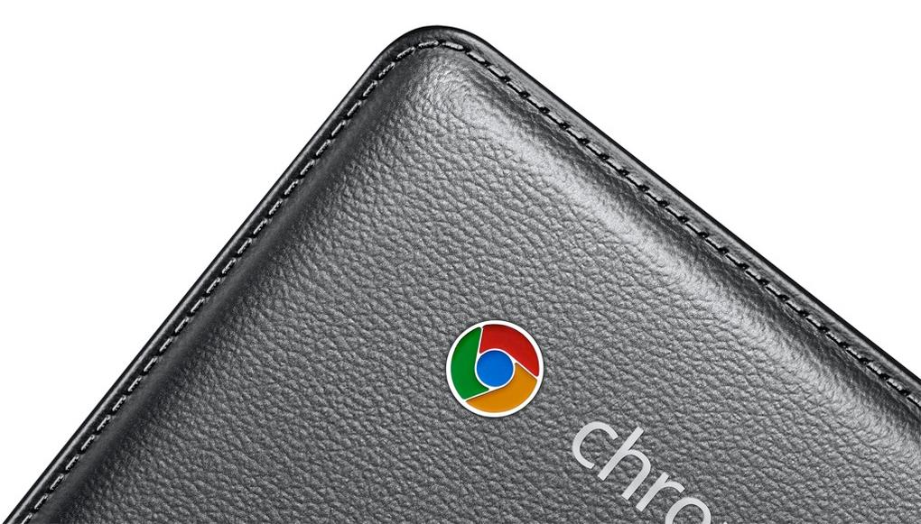 Samsung's Chromebook 2 Series features a faux leather lid