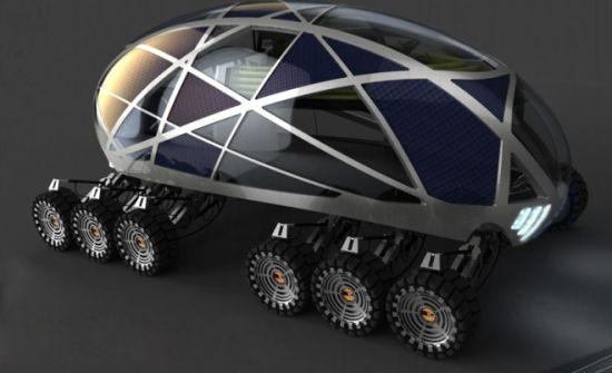 The Nomad is a concept for a futuristic cross-country RV and biosphere designed to cope with a world ravaged by global warming