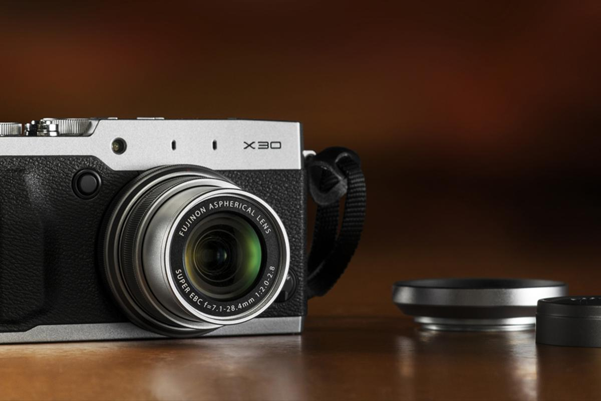 The Fujifilm X30 is a retro-styled enthusiast-focused compact zoom camera