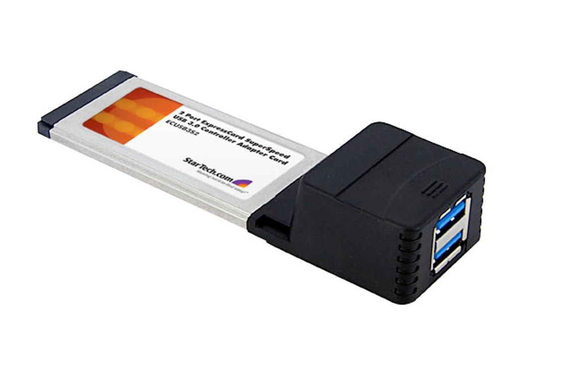 The StarTech.com two-port ExpressCard USB 3.0 adapter makes upgrading to USB 3.0 cheap and easy
