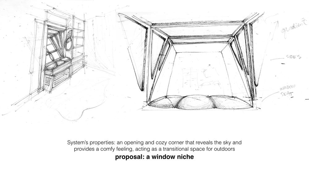 Though only a concept, More Sky would be built from wood, comprise a window frame and seat