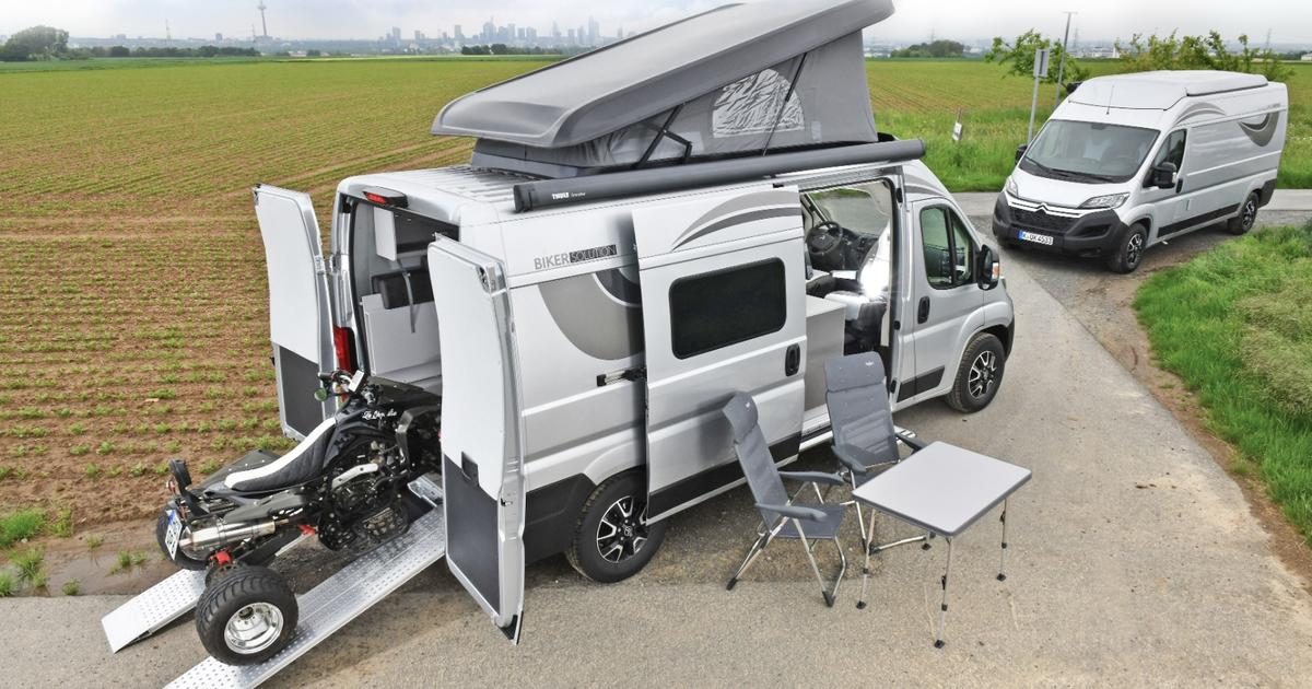 Citroën's latest pop-top camper van ups the action level by carrying an ATV to camp