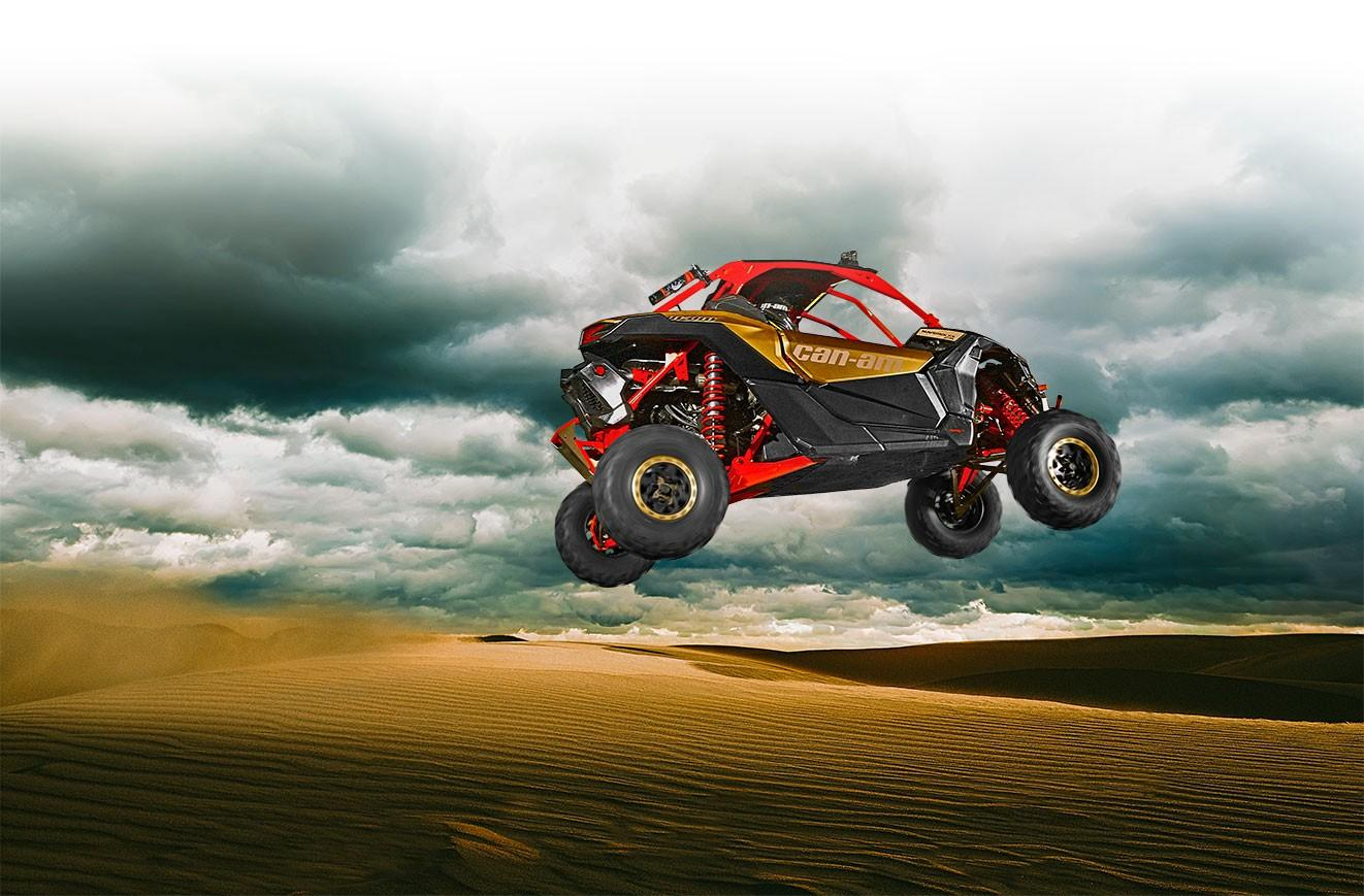 The Can-Am Maverick X3 is designed to soak up everything the desert can throw at it