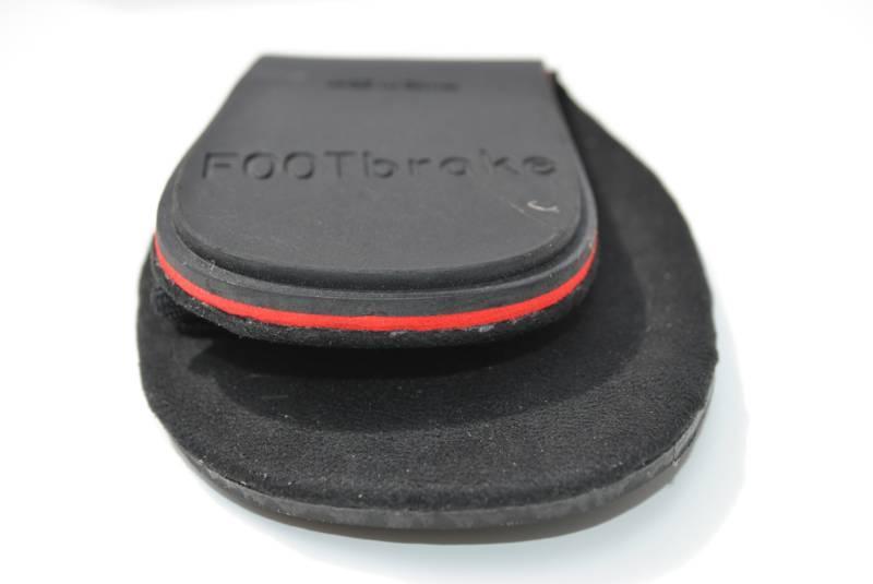 FOOTbrakes fold small enough for a cycling jersey pocket