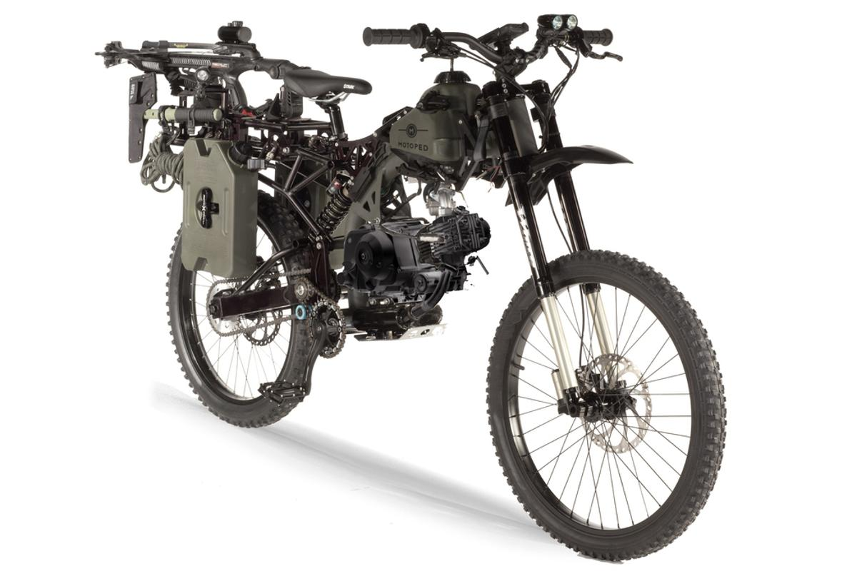 The Motoped Survival: Black Ops edition is being touted as a perfect bike for the zombie apocalypse