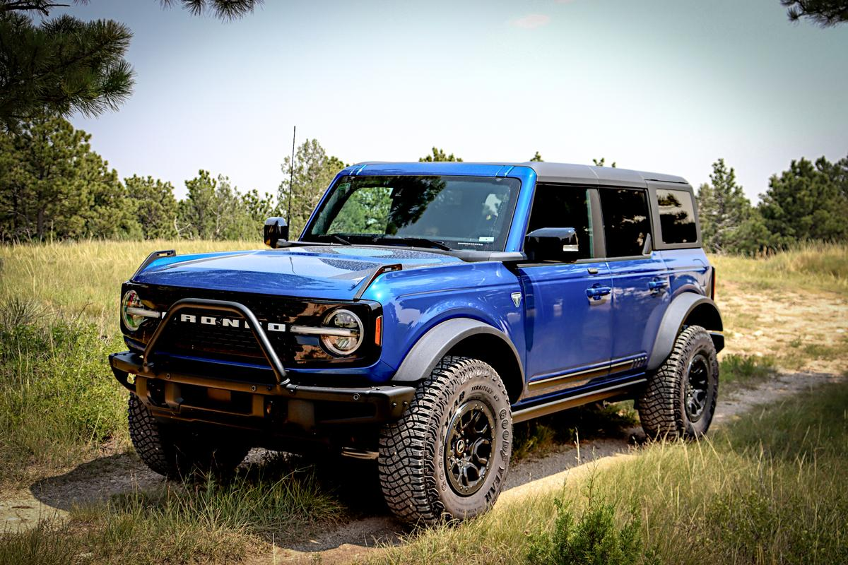 Our test drive Bronco was a First Edition with the Sasquatch package added