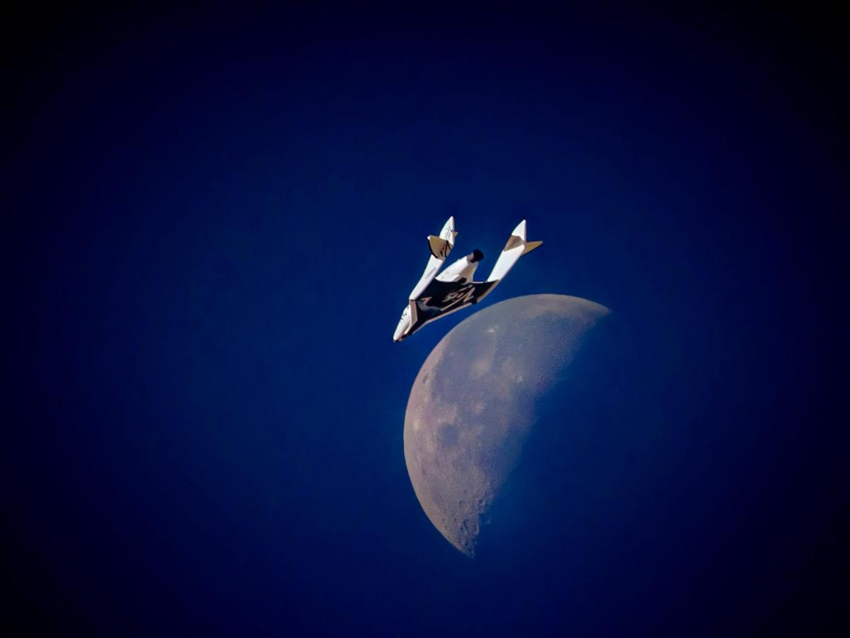 SpaceShipTwo left terra firma once more, Wednesday morning (Photo: Virgin Galactic)