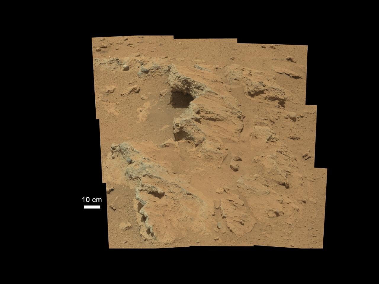Mosaic view of the Hottah outcropping (Photo: NASA/JPL-Caltech/MSSS)
