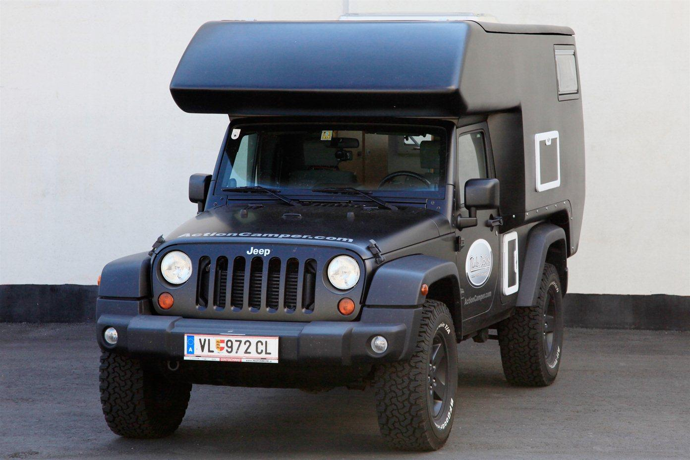 The Action Camper brings cooking and sleeping space to the Jeep JK Wrangler Unlimited