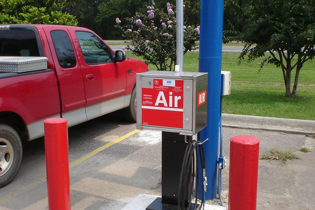 Goodyear is developing a system that would automatically keep tires inflated to the proper pressure, making gas station air pumps unnecessary (Photo: Doyle N. Roberts)