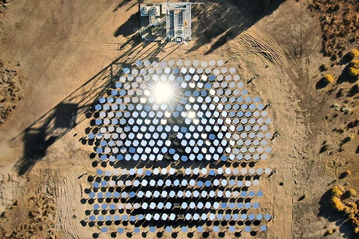 Heliogen's ultra-high-temperature concentrating solar system will be trialled at a Rio Tinto operation in California