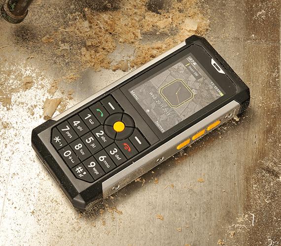 The Cat B100 is dustproof