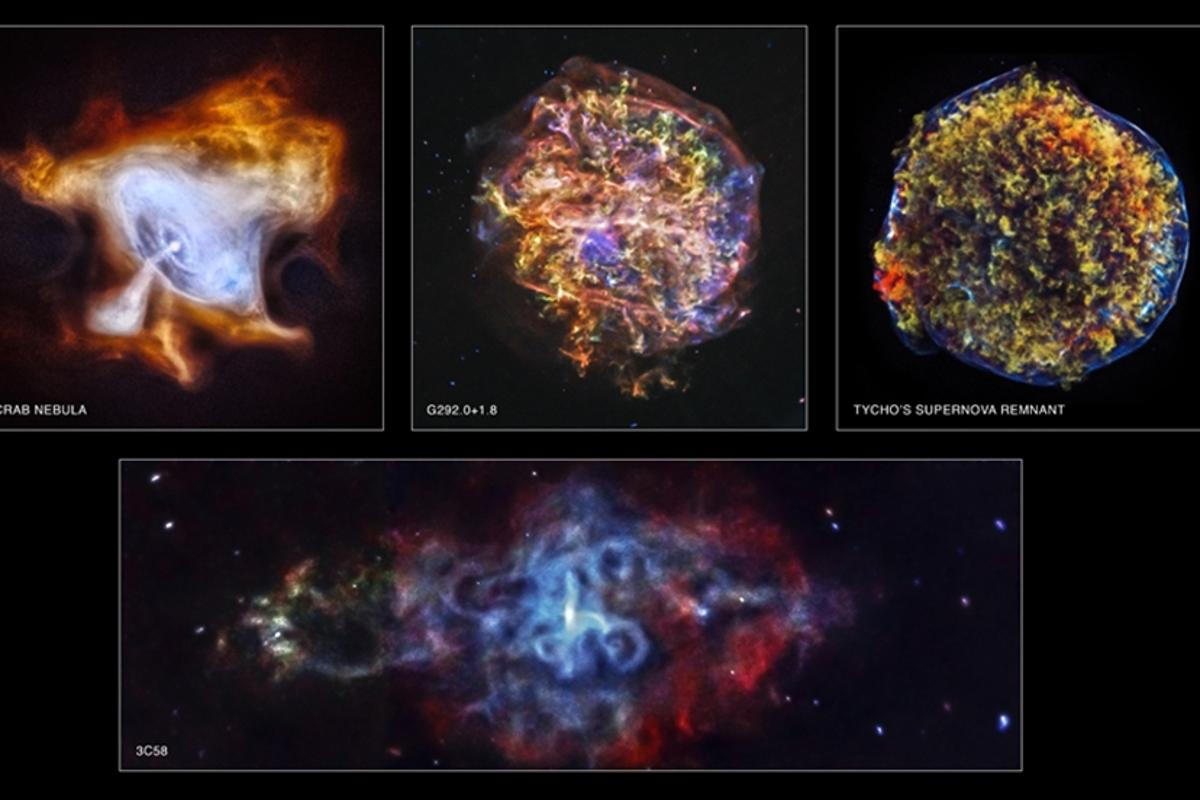 Four new images have been released to mark the 15th anniversary of the launch of the Chandra X-ray Observatory