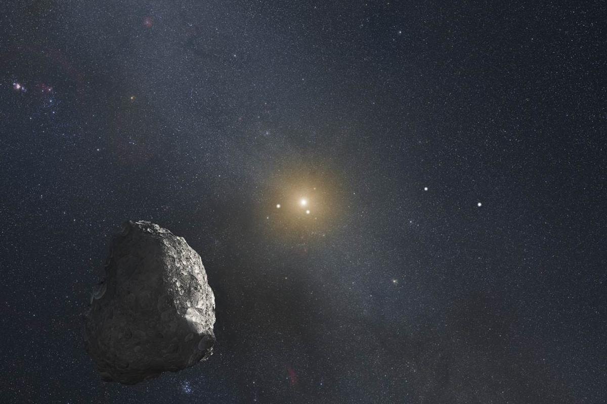 Artist's impression of a Kuiper Belt Object (Image: NASA, ESA, and G. Bacon)