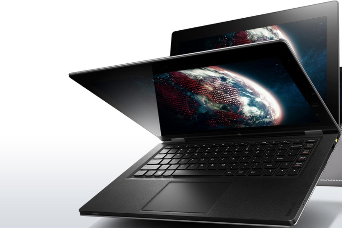 The Lenovo IdeaPad YOGA 13-inch, 360 degree flip and fold Ultrabook