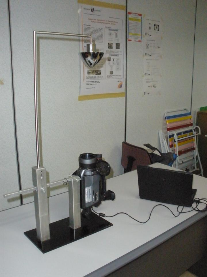 The device consists of a customized hyperbolic hot mirror, camera-mirror stand, infra red camera and special image processing algorithms (Photo:MMU)
