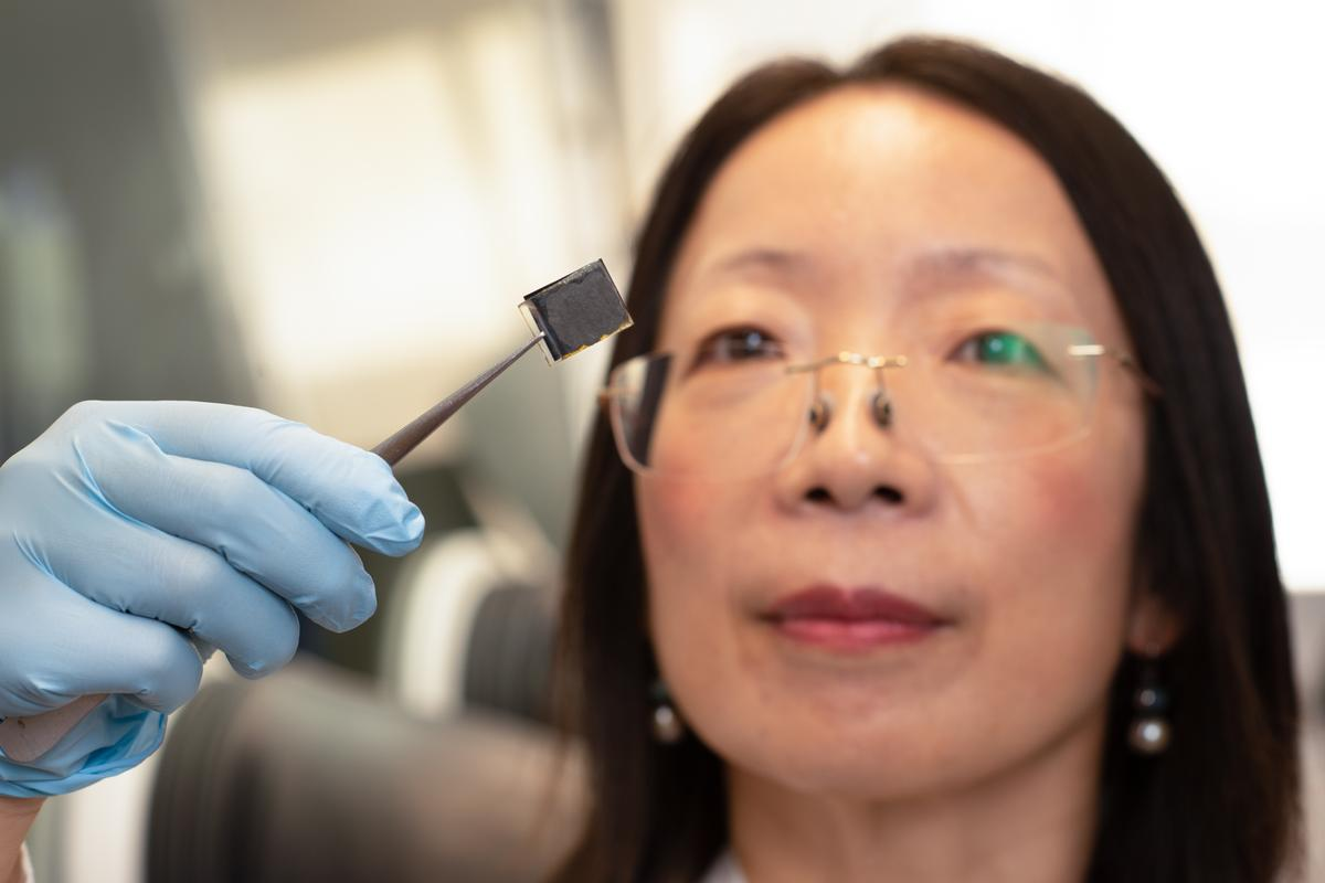Professor Hongxia Wang from the Queensland University of Technology has led the development of perovskite solar cells that incorporate nanodots made out of human hair, which afford them a protective layer
