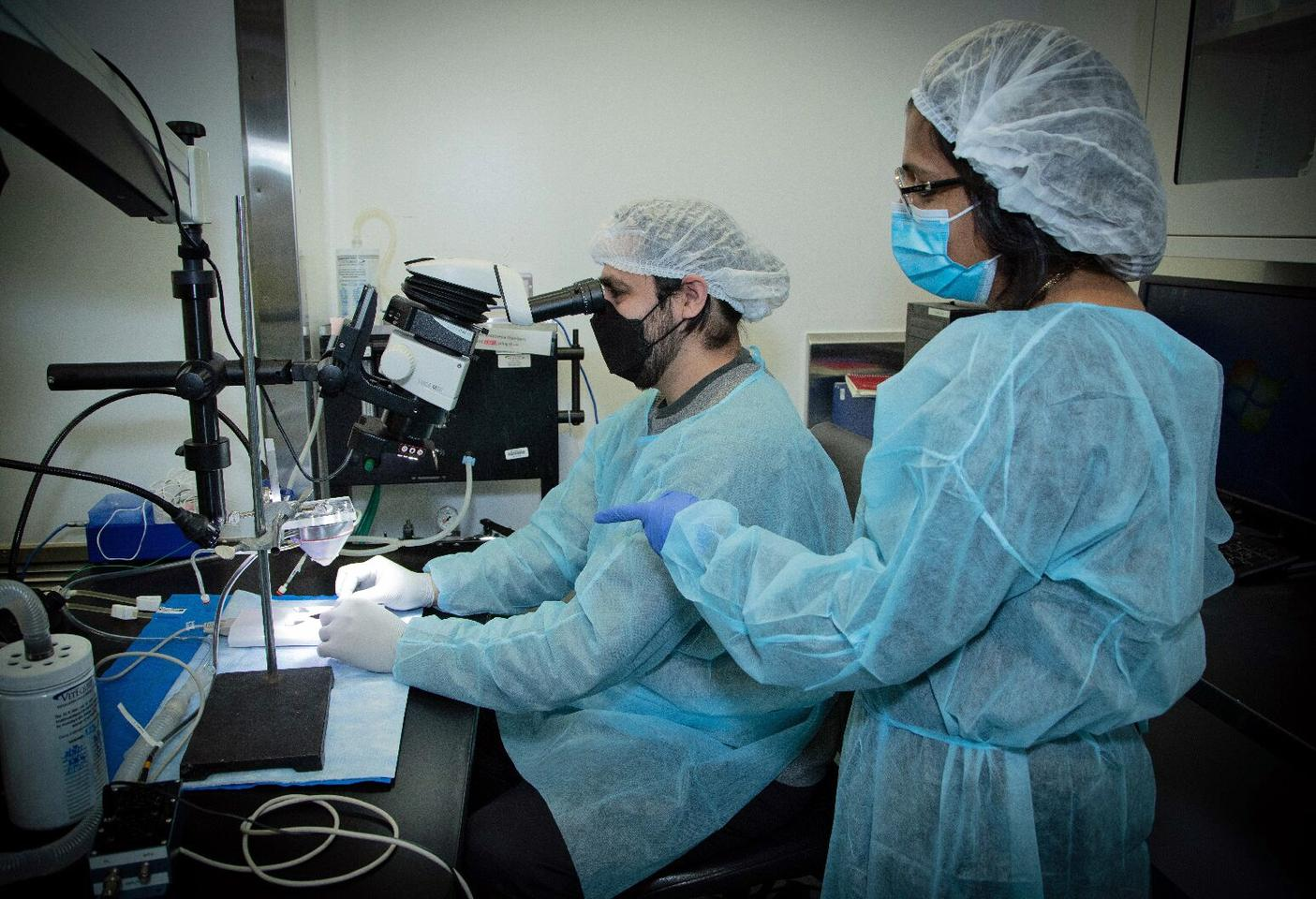 Tomas Huerta (left) and Sangeeta Chavan (right), researchers on the new study