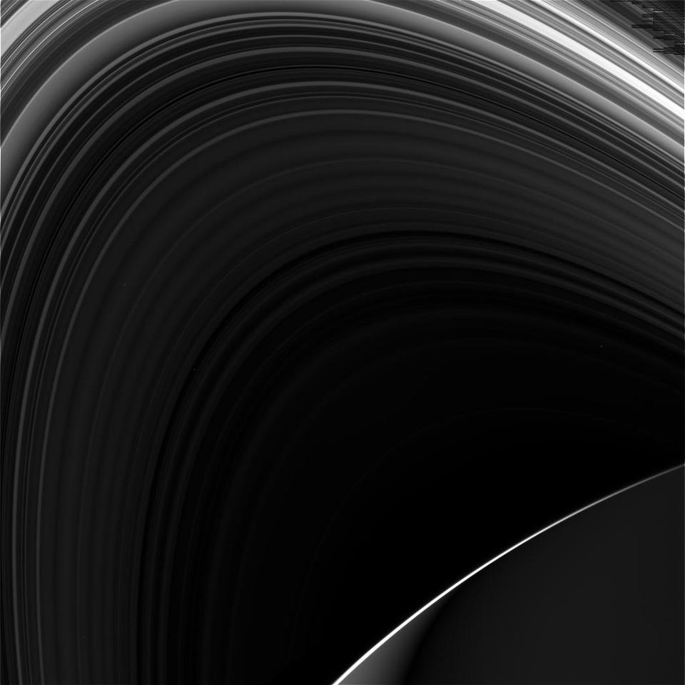 Shot of Saturn and its rings as taken by Cassini on May 3, 2017