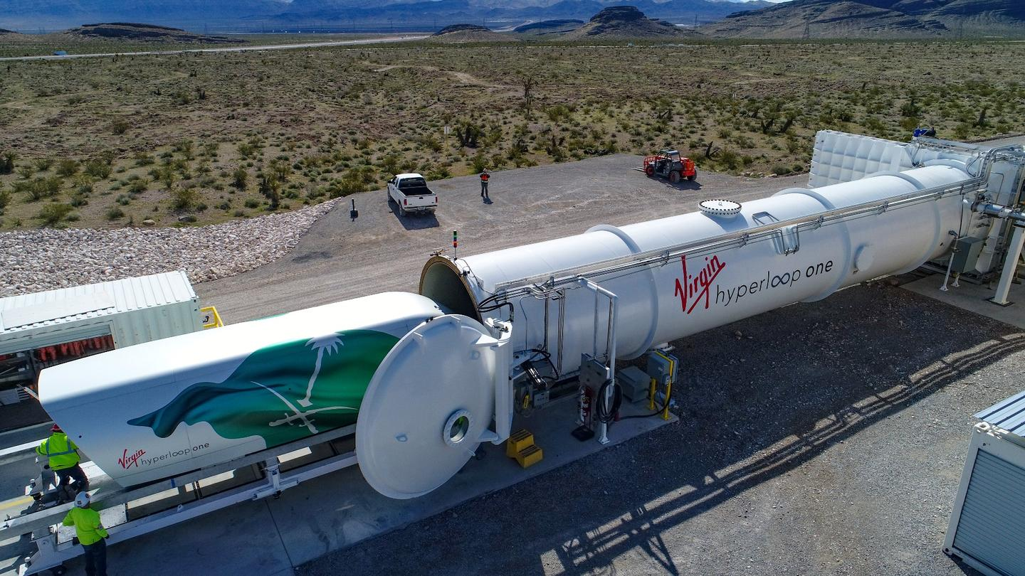 Dubbed the Vision 2030 Hyperloop Pod, Virgin Hyperloop One'scapsule appears no different to the prototype the company has been putting through its paces at its test track outside Las Vegas