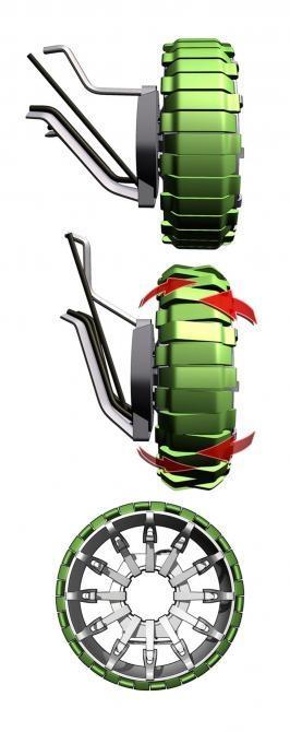 The HUMMER O2 Concept wheels