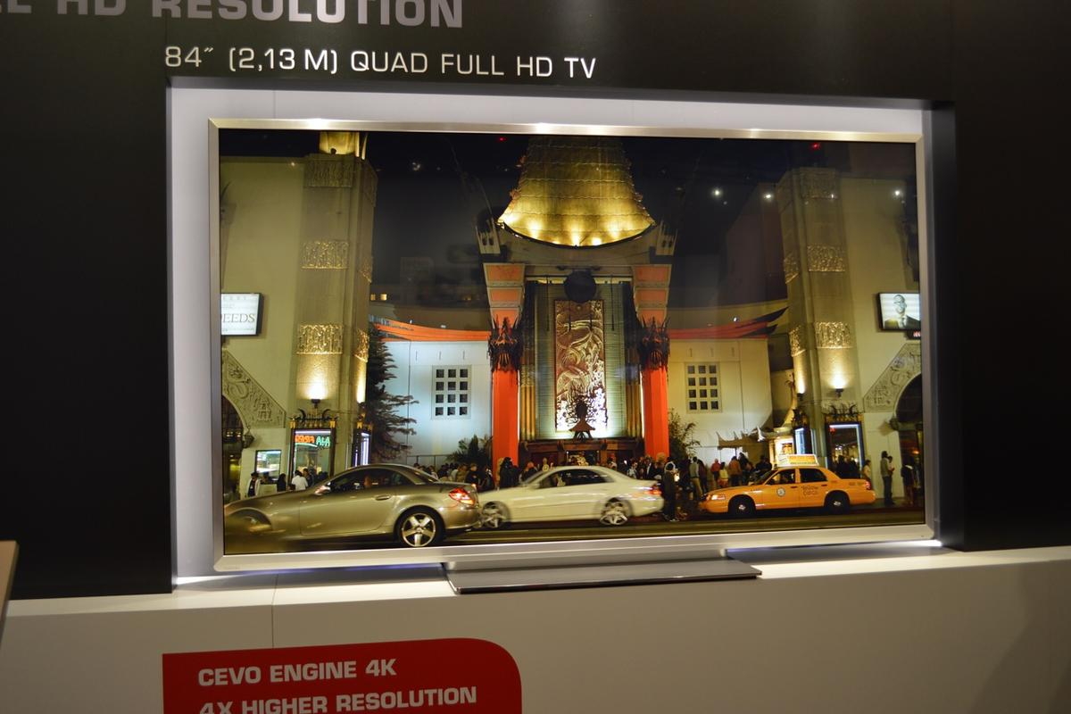 Today at IFA 2012 in Berlin, Toshiba announced an upcoming line of high-end 4K television displays set to compete with Sony's 84-inch TV