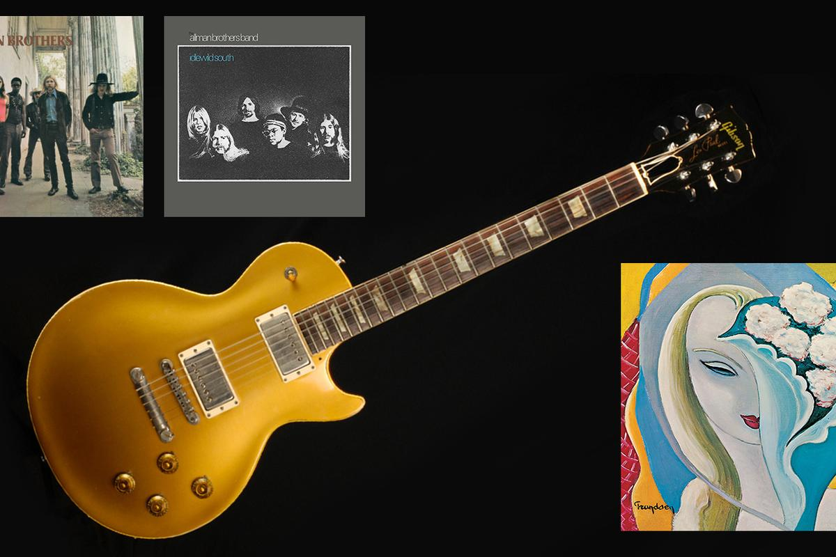 "The Goldtop 1957 Gibson Les Paul guitar which Duane Allman used to record ""Layla"" alongside Eric Clapton"