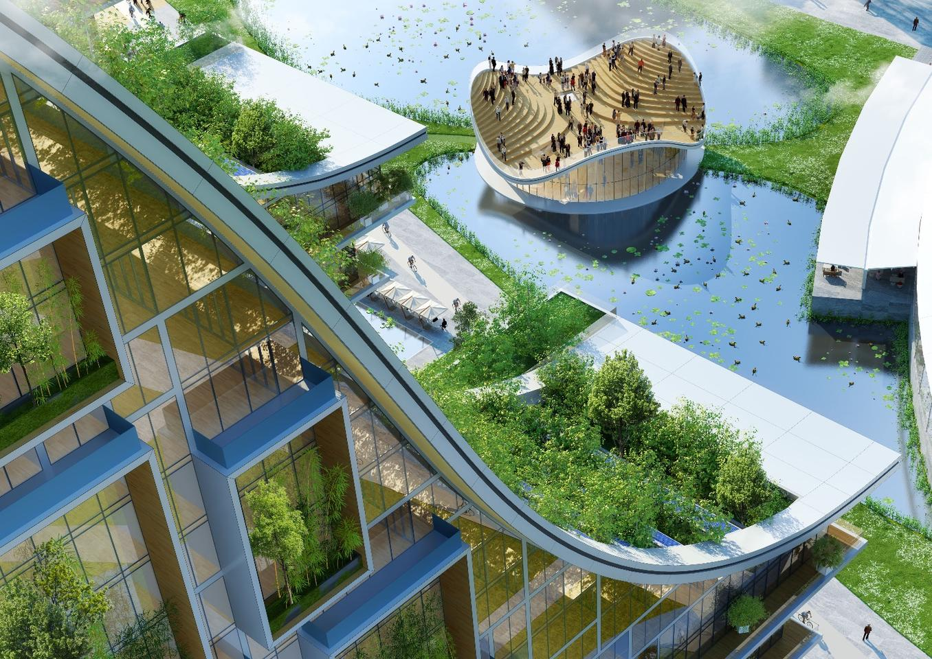 "Vincent Callebaut Architectures has revealed new plans to turn Brussels' former industrial area Tour & Taxis into an ""eco-neighborhood"""