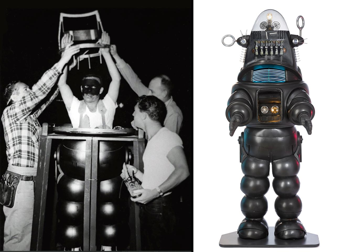 Robby the Robot may have first appeared in the 1956 movie Forbidden Planet, but his film and TV appearances number more than 30, including movies such as The Invisible Boy,Phantom Empire and Gremlins, and his TV show appearances included episodes of My Little Margie, The Thin Man, Columbo, The Addams Family, Lost in Space, The Twilight Zone, The Man from U.N.C.L.E., Mork & Mindy, Project U.F.O. and Ark II.