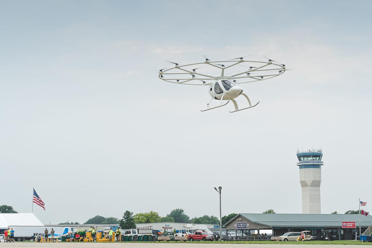 The Voloctoper takes to the skies at EAA AirVenture Oshkosh 2021