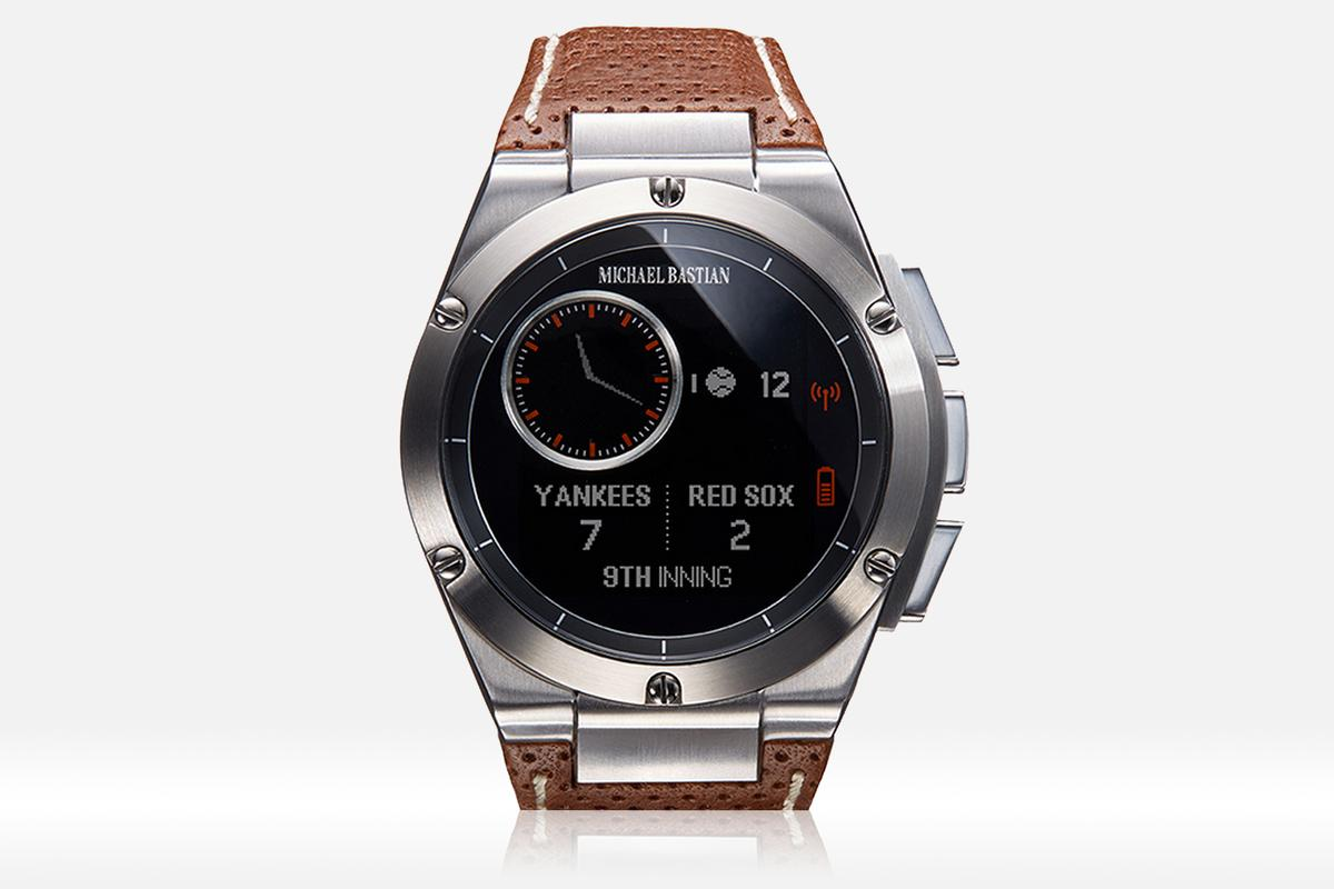 The MB Chronowing is a fashion timepiece with smartwatch features (Image: Gilt)