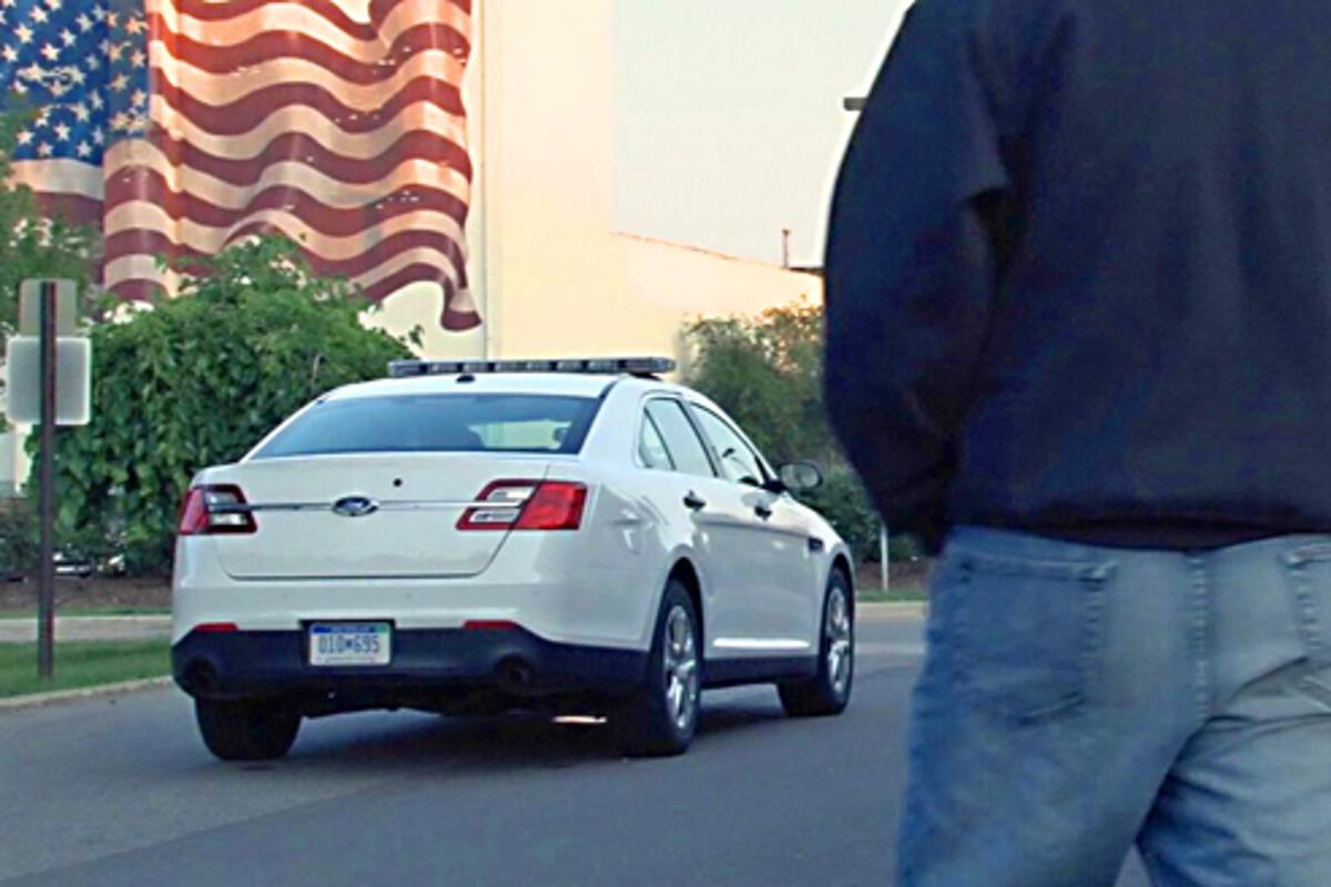 Ford's surveillance system monitors the area behind the police cruiser