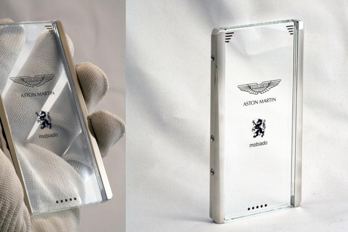 The transparent CPT002 Aston Martin Concept Phone from Mobiado