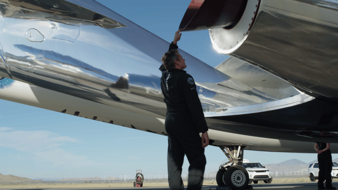 Final inspections of Virgin Galactic's spaceplane before the latest testing