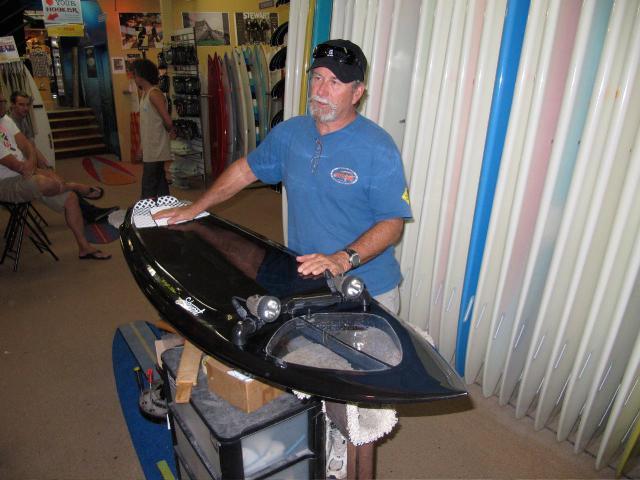 Bill Stewart gives his Night Stalker board a polish