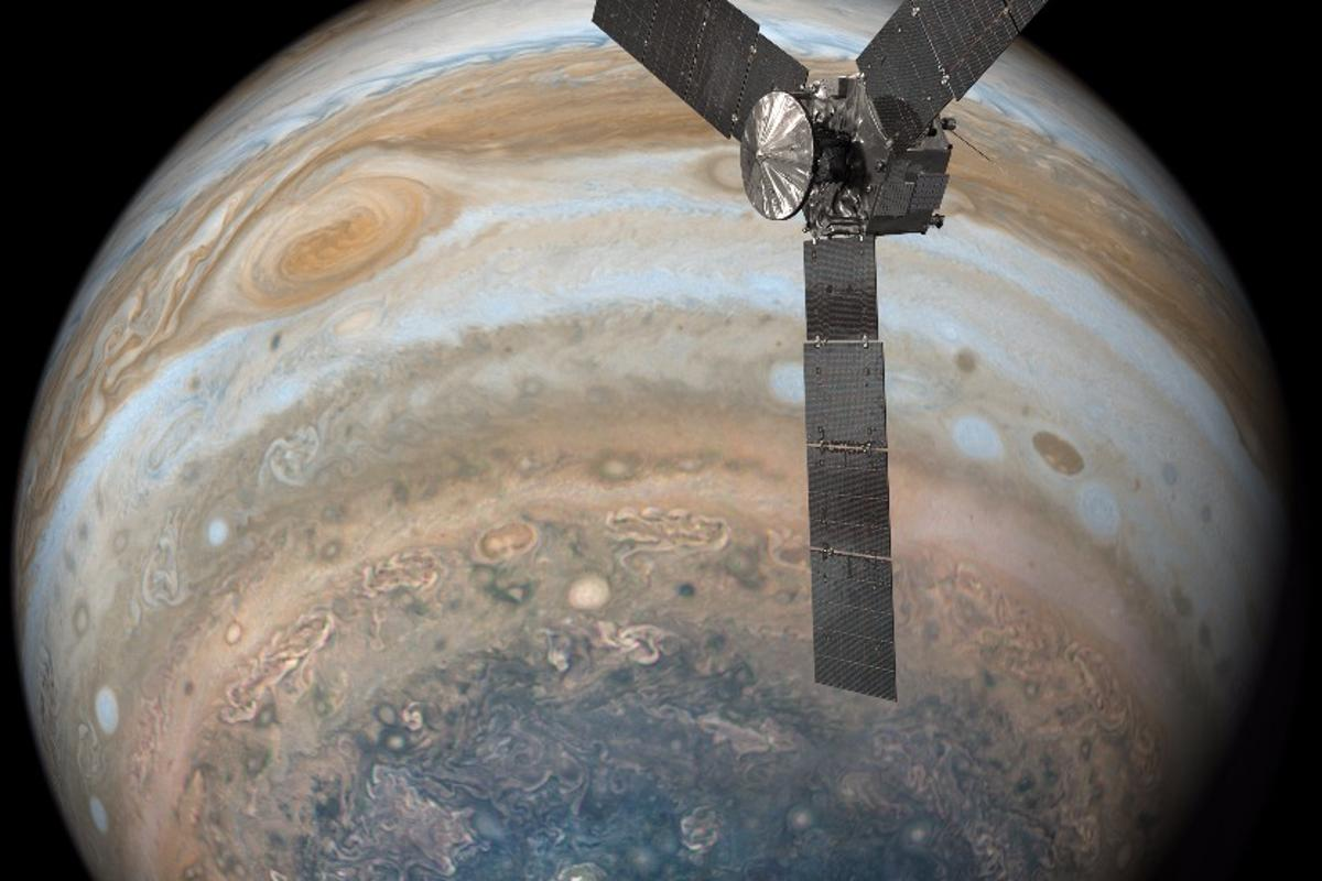 The flyby was the first close pass over Jupiter's Great Red Spot