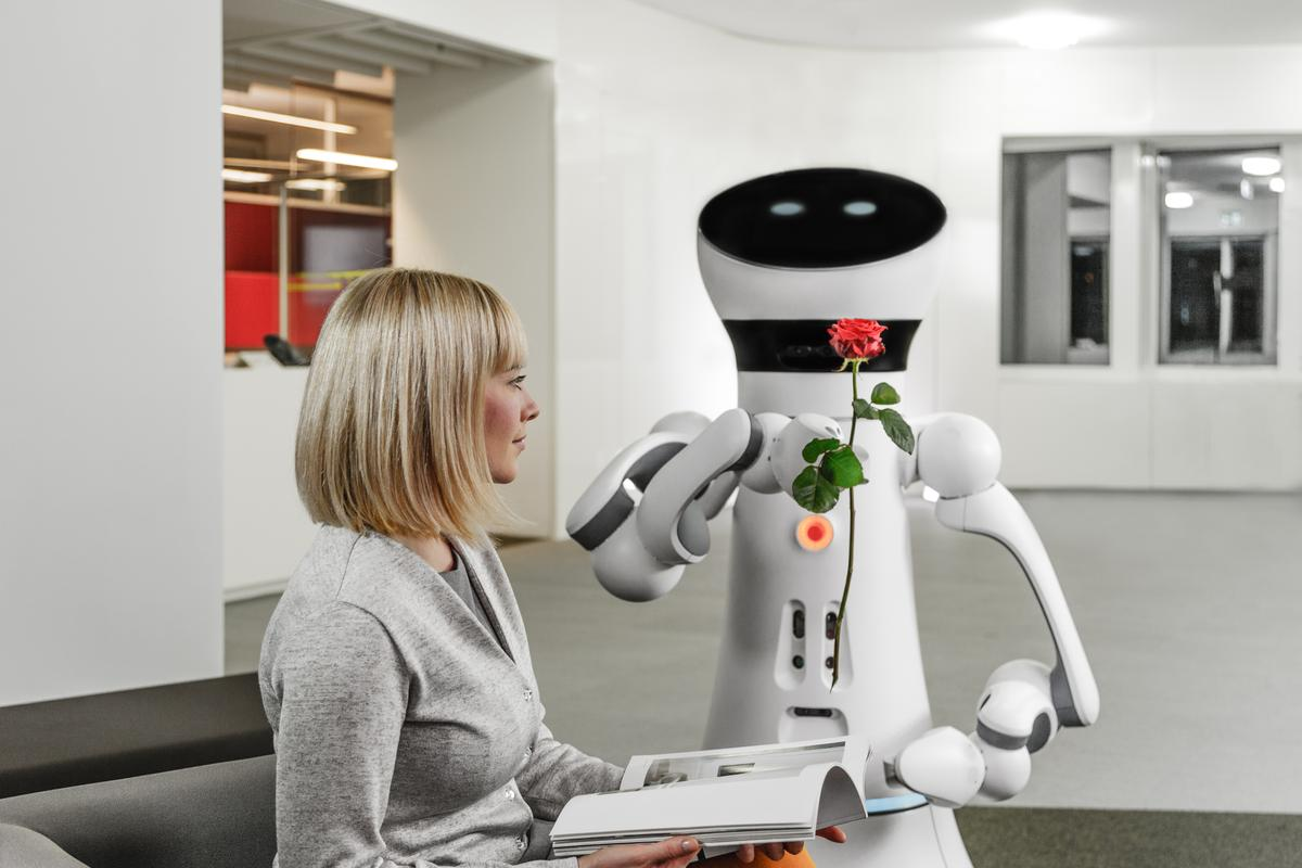 The Care-O-bot 4 is designed to be an affable service robot on a budget