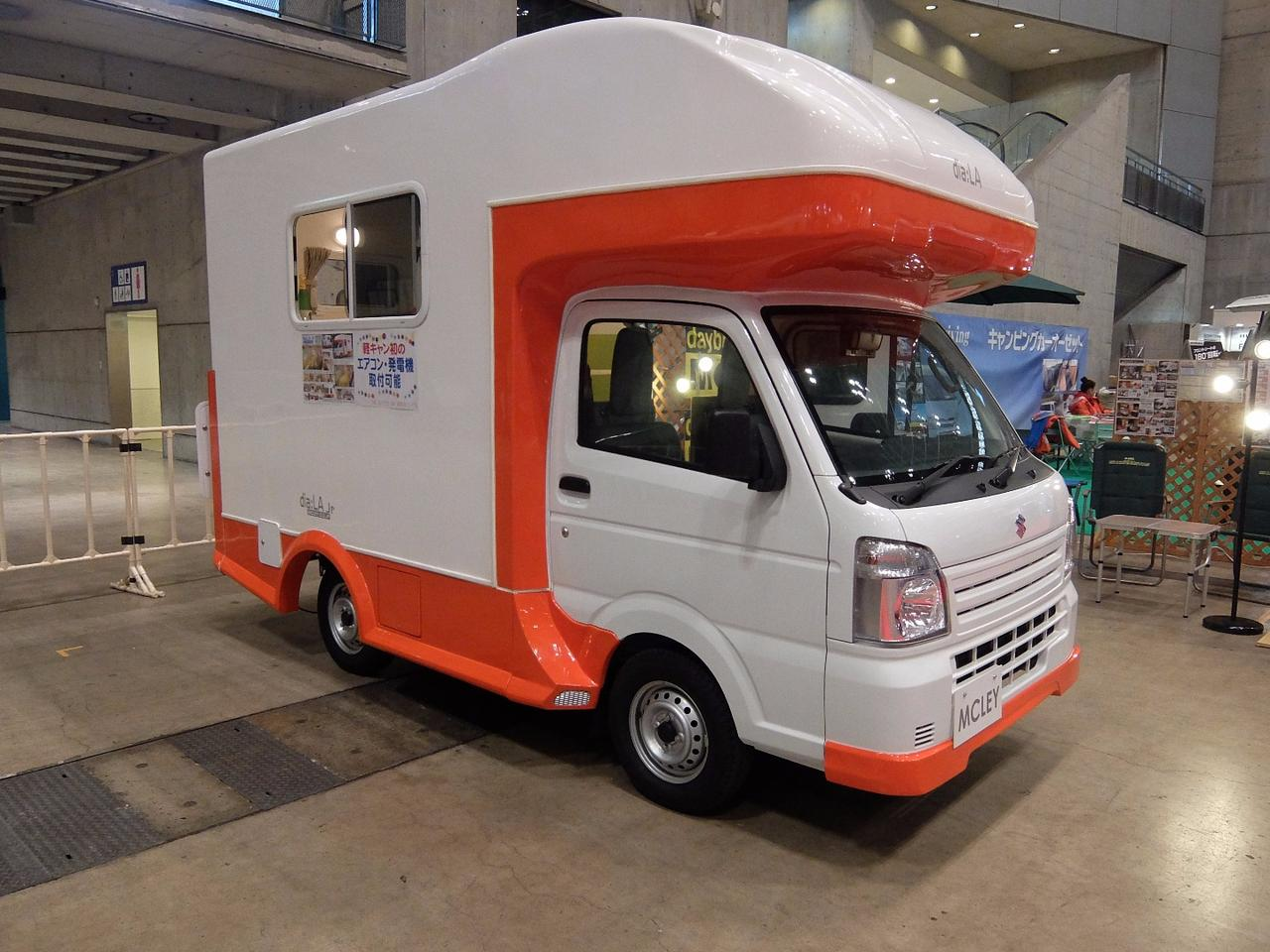 The dia-LA Junior by MCLEY is available as a 2 or 4 wheel drive. The company says it can sleep 5 ... but 3 would be more comfortable.