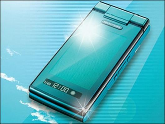 The Solar Ketai waterproof, solar-powered mobile phone
