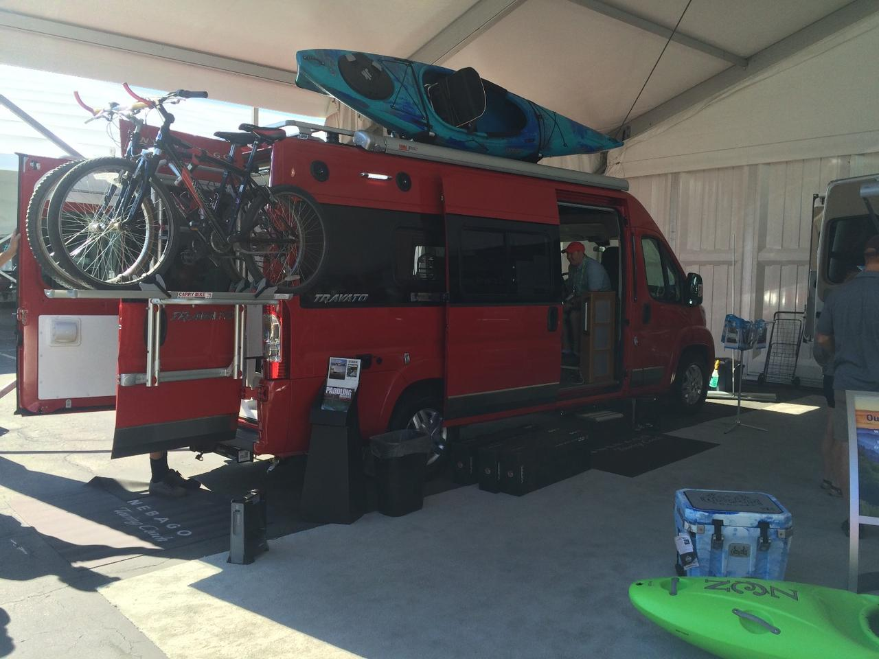 With the Travato, Winnebago is going for the mountain biking/ kayaking/climbing crowd