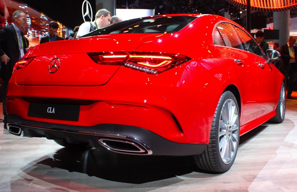 2019 Mercedes-Benz CLA Coupe on display at CES