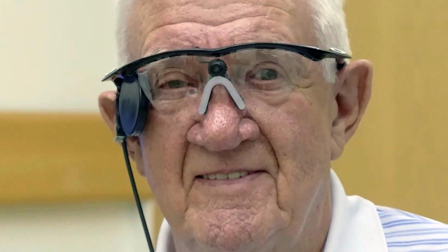 The 80-year-old Raymond Flynn was the first to receive the implant for AMD treatment