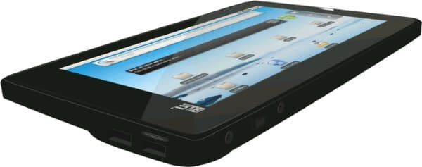 Running Android 2.2 Froyo (which is actually not a tablet-friendly platform), Aakash comes with 7-inch 800x480 resistive Multi-touch touchscreen