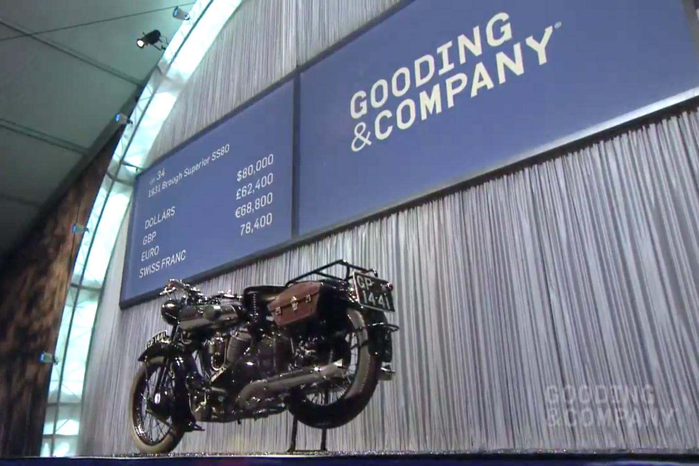 Soldat a Gooding auction at Pebble Beach in 2011 for $176,000, this1931 Brough Superior SS80 was the most expensive Brough Superior SS80 ever sold at that time.It sold for just$88,000 in a no reserve auction - quite some bargain.