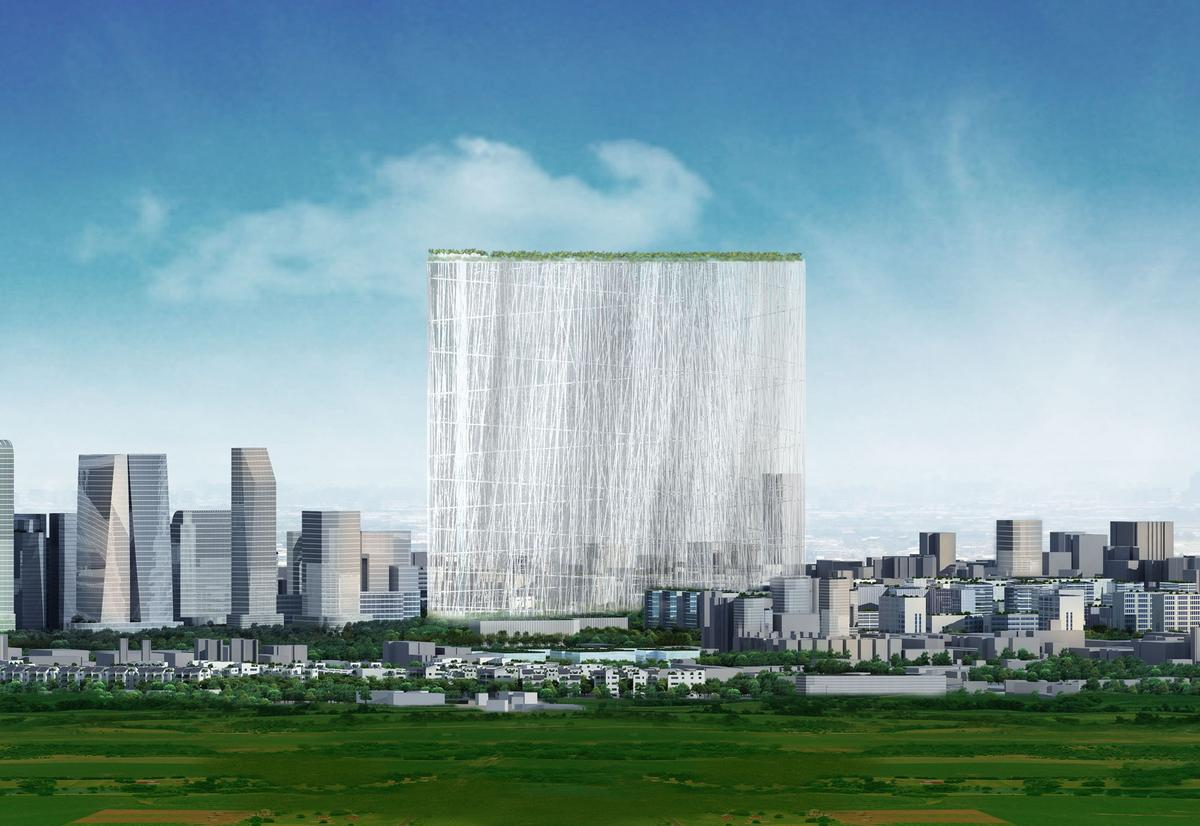"""The winning Sou Fujimoto concept features a tower that in essence is a """"21st Century Oasis"""" (image:Sou Fujimoto)"""