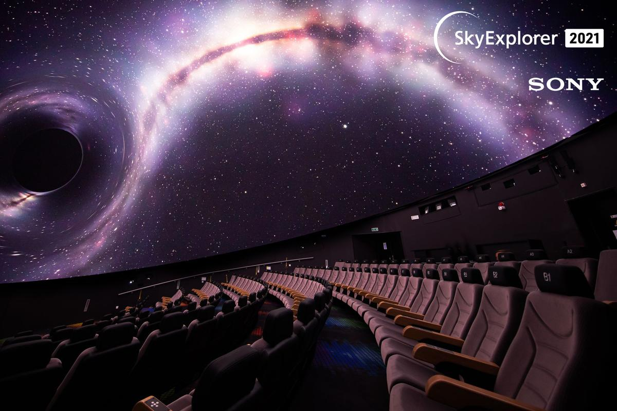 """The planetarium at La Coupole promises visitors """"unforgettable journeys through the Universe in an ultra-modern 360° environment"""""""